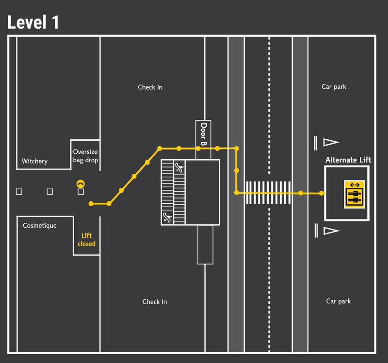 Lift C Map Level 1