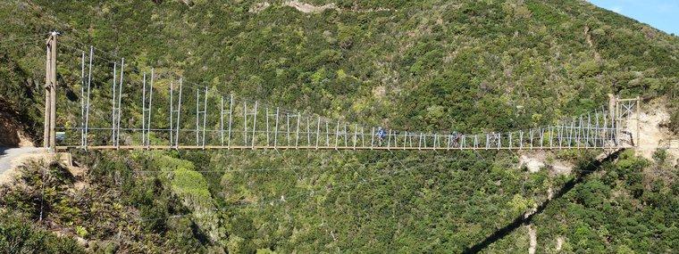 Makara Peak Mountain Bike Park Wild at Heart Bridge