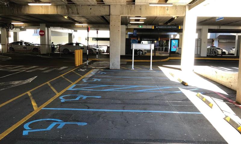 Mobility Car Park Level 0 Wellington Airport