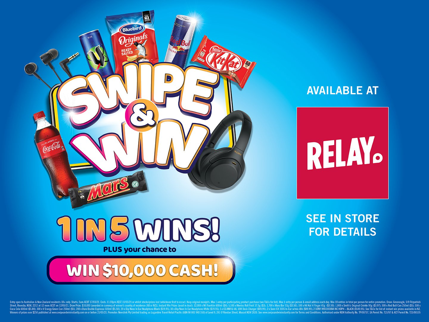 Relay Swipe & Win