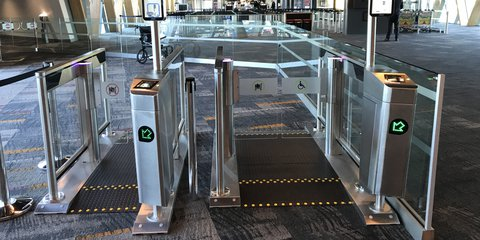 Sounds Air self-boarding gates