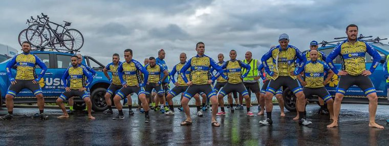 Uso Haka Tika Tonu to start the 2016 Ride Bluff to Cape .jpg